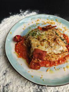 Un plat basque de lasagne à l'ossau iraty